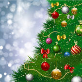 Christmas tree background — Cтоковый вектор