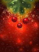 Jul grannlåt bakgrund — Stockvektor