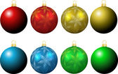 Christmas baubles — Stock vektor