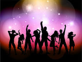Party people background — Stock Vector
