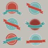 Retro styled badges — Vector de stock