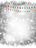 Christmas lights background — Stock Vector