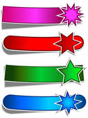 Star banners — Stock Vector