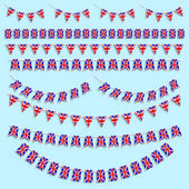 Union jack bunting and decorations — Stock Vector