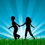 Children running — Stock Vector #41668833