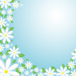 Stock Vector: Daisy background