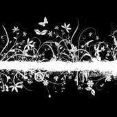 Kaotik çiçek grunge — Stok Vektör