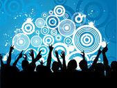 Grunge crowd — Stock Vector