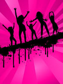 Grunge party girls — Stock Vector