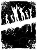 Grunge party people — Vector de stock