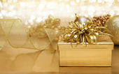 Gold Christmas background — 图库照片