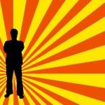 Man silhouette — Stock Vector