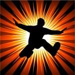 Man jumping — Stock Vector