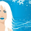Snow queen — Stock Vector