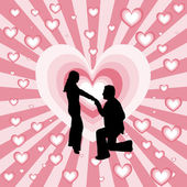 Marriage proposal — Stock Vector