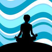 Women in  meditation — Vettoriale Stock