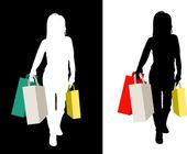 Female shopper — Stock Vector