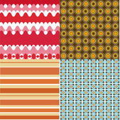 Seventies background set — Stock Vector