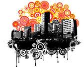 Ilustración de la ciudad — Vector de stock