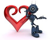 Android with Heart — Stock Photo
