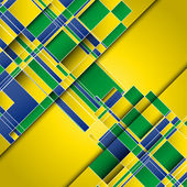 Background using Brazil flag colours — Stockvektor