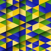 Abstract design using Brazil flag colours — Stockvektor