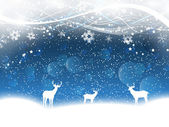 Christmas background with deer — Stock Vector