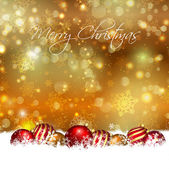Christmas baubles achtergrond — Stockvector
