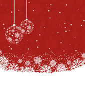 Christmas baubles background  — Stock Vector