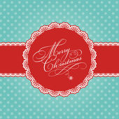 Christmas polka dot background — Stock Vector