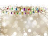 Christmas lights background — Stock Vector