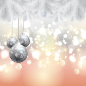 Christmas tree and baubles background — Vetorial Stock