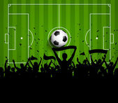 Soccer or Football crowd background — Vector de stock