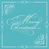 Decorative Merry Christmas wording — Stock Vector