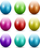 Colourful Easter eggs — Stock Vector