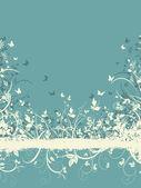 Floral grunge background — Stock Vector