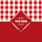 Gingham pattern menu design  — Stock Vector