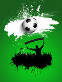 Grunge football or soccer crowd — Stock Vector