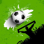 Grunge football or soccer crowd — Vector de stock