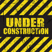 Grunge under construction background — Stock Vector