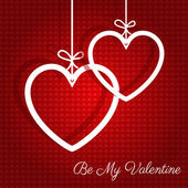 Hanging hearts Valentines Day background — Stock vektor