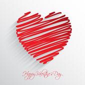 Scribble heart background  — Stock Vector