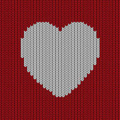 Knitted heart background — Wektor stockowy