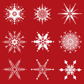 Christmas snowflakes designs — Vector de stock