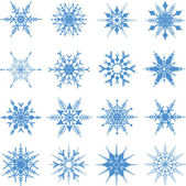 Christmas snowflakes background — Vector de stock