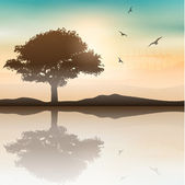 Drzewo krajobraz — Wektor stockowy