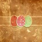 Grunge floral Easter egg background — Stock Photo #49533733
