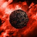 3D volcanic globe — Stock Photo #49534643
