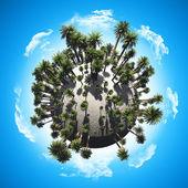 Palm tree globe — Stock Photo