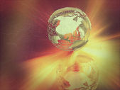 Abstract globe with retro vintage effect — Stock Photo